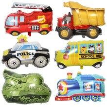Автомобиль пожарная машина воздушные шары вечерние воздушные шары для вечеринки украшения из фольги шар День Рождения Декор дети мультфильм шляпа