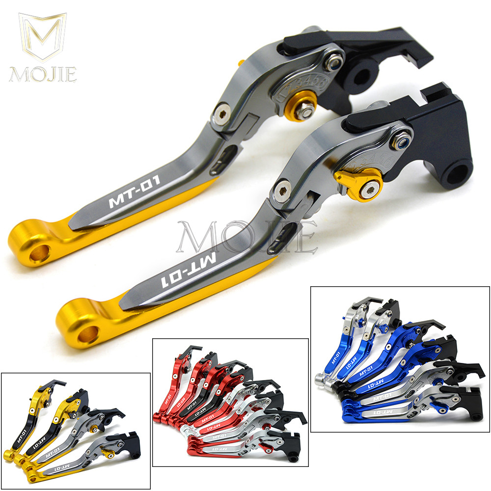 MT 01 Motorcycle Levers CNC Adjustable Folding Brake Clutch Levers For Yamaha MT01 MT 01 MT