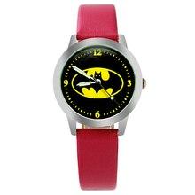 Batman Children Watch Fashion Watches Quartz Wristwatches Jelly Kids Clock boys girls Students Wristwatch