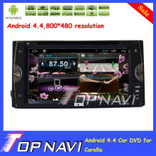 "Top Professional Capacitive Screen 6.95"" Android 4.4 Car DVD Player For Corolla With GPS Map Wifi Bluetooth"