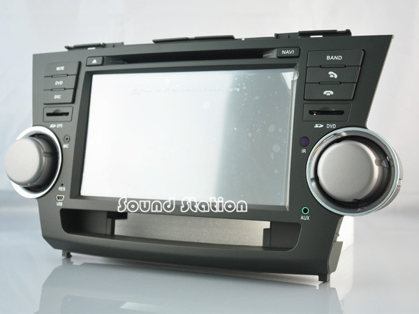 Car Accessories Auto Spare Parts For Toyota Highlander Touch Screen Dvd Gps Monitor S100