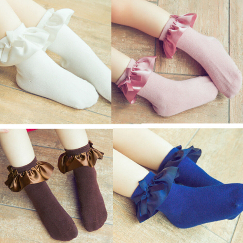 Cute Baby Lace Sock Girls Tiny Newborn Knitted Cotton Blend Ankle Socks Ruffle Casual Lace Tassel Socks