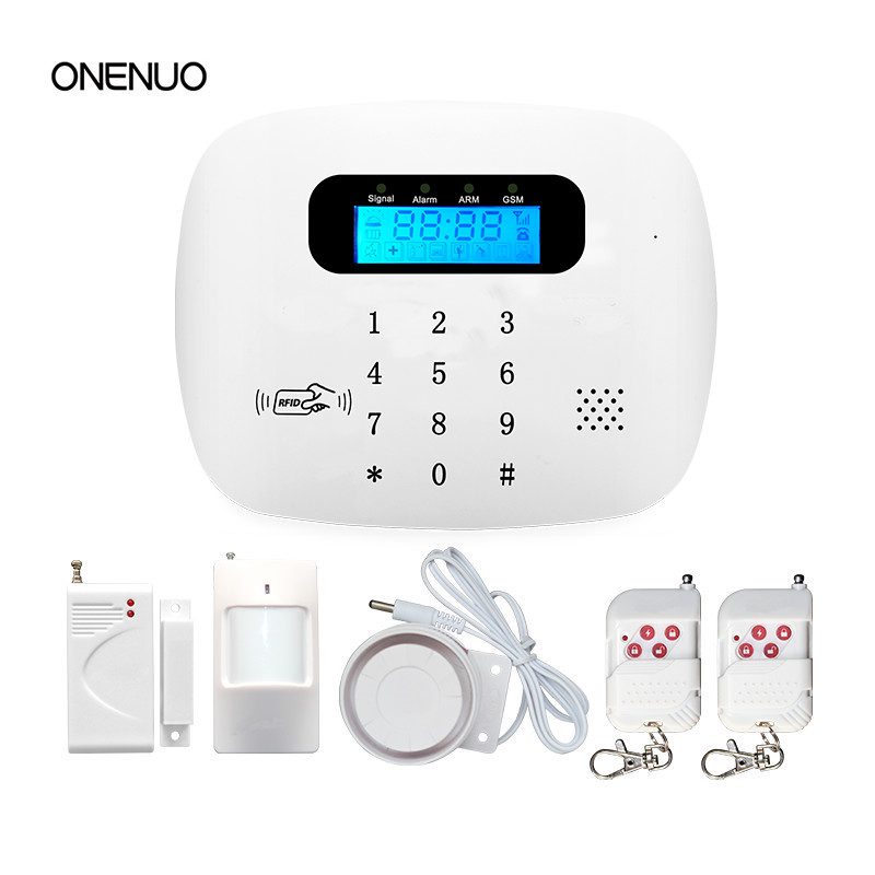 Wireless Anti thief Home Security Alarm System GSM & RFID integrated alarm Free Shipping