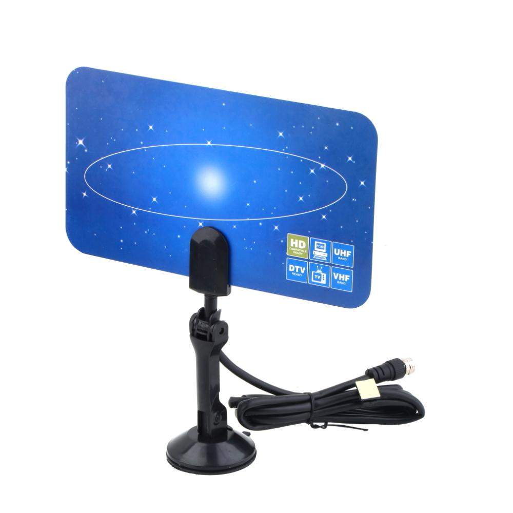 Digital Indoor TV Antenna HDTV DTV Box Ready HD VHF UHF Flat Design High Gain Work Great with Digital TV Sets Converter Boxes