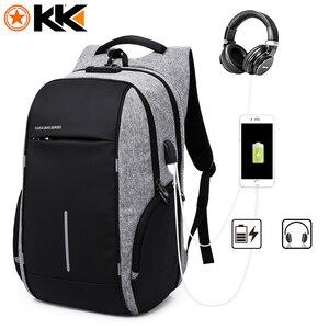 """Image 5 - Erkekler TSA Anti hırsızlık sırt çantası büyük kapasiteli 17.3 inç USB sırt çantası erkek kadın 15.6 """"Laptop sırt çantaları Schoolbag gençler için"""