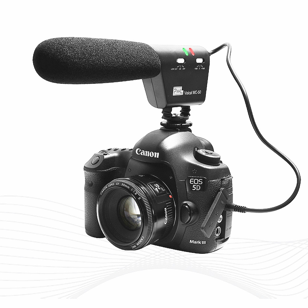 Profession Photography Interview Recording Mini Mic Video Pixel Voical MC-50 Microphone for Canon Nikon Sony Pentax DSLR CameraProfession Photography Interview Recording Mini Mic Video Pixel Voical MC-50 Microphone for Canon Nikon Sony Pentax DSLR Camera