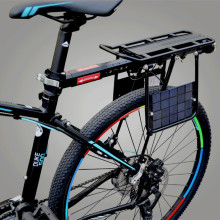 Mountain car aluminum alloy shelves, bicycle solar charging shelves, long-distance bicycle full-speed hanger can be manned