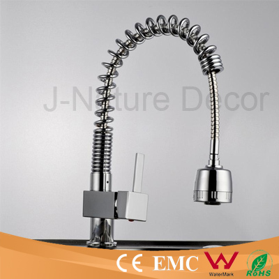 Round Spring Pull Out Kitchen Faucets Mixer Tap