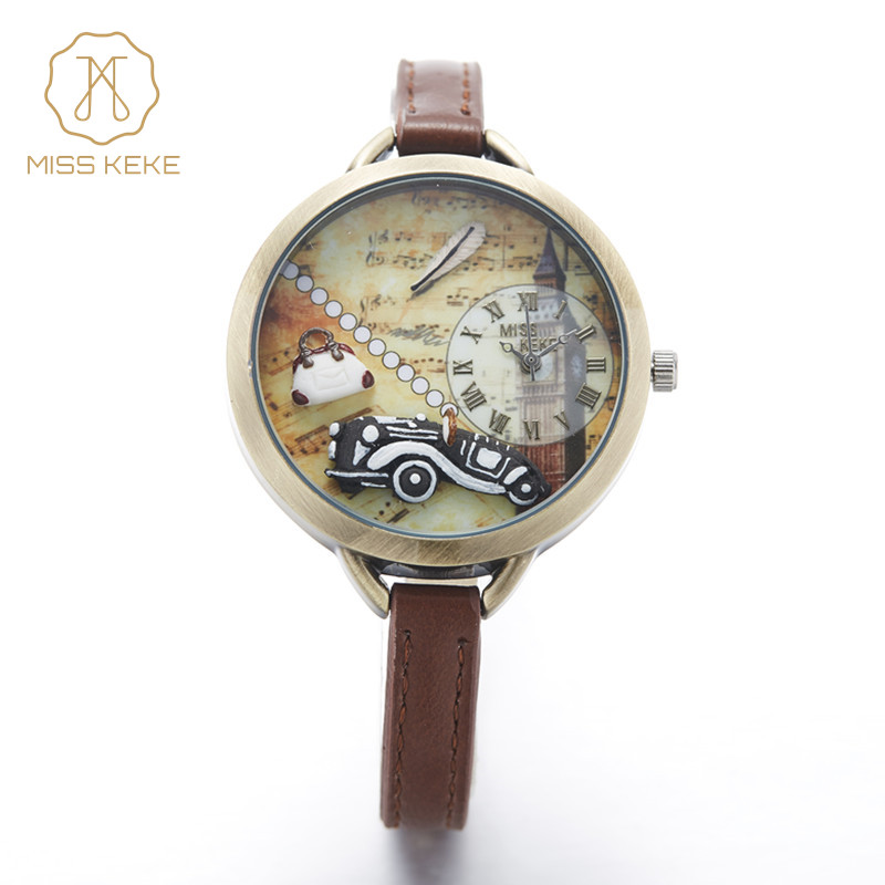 relojes mujer new MISS KEKE 3D mini world clay cute kids  women Bracelet watches ladies Fashion montre femme Wristwatches 1040 miss keke women watches 2017 clay 3d mini cute world city young pretty girl kids children watch pink pu strap wristwatches