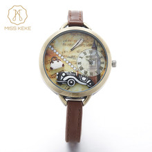 Relojes mujer nouvelle MISS KEKE 3D mini monde argile mignon enfants femmes Bracelet montres dames De Mode montre femme Montres 1040
