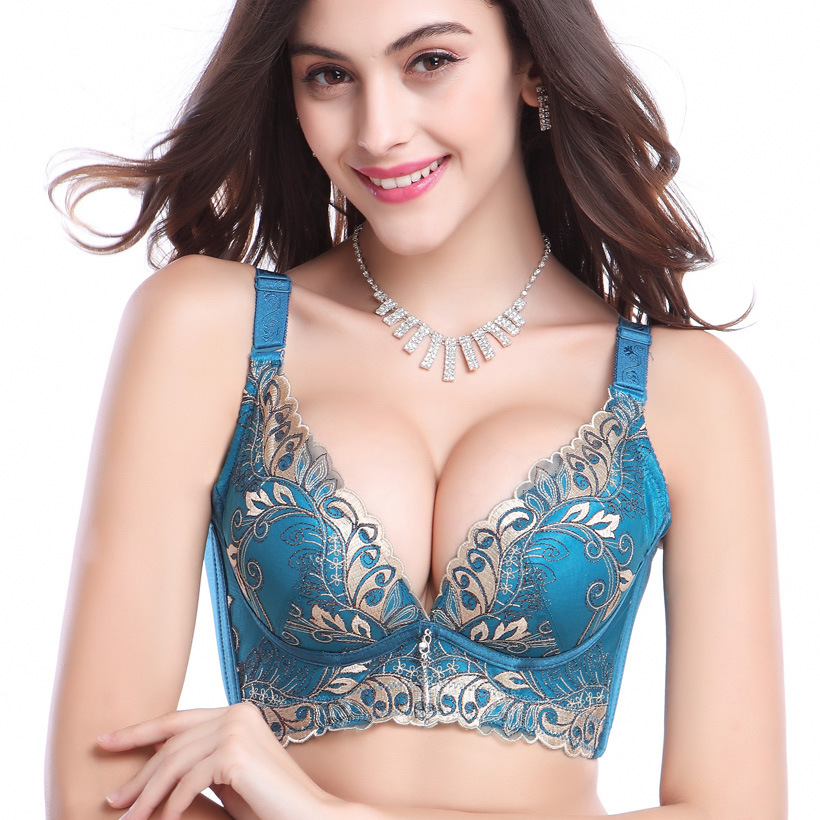 Lace push-up bra with molded, padded cups to maximize bust and cleavage. Narrow, adjustable shoulder straps and hook-and-eye fastening at back. 88% nylon, 12% tubidyindir.ga: $