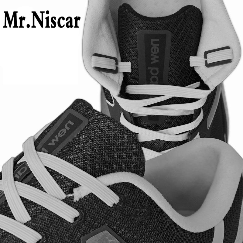 Mr.Niscar 1 Sets/4 Pcs No Tie Shoelaces Flat Anchor Plastic Lazy Shoe Laces Anchors Fit All Shoelace Size 17mmX10mmX2mm цена
