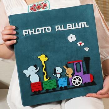 PHOTO ALBUM, 5 inch 600 Photos Insert Type Family Felt polaroid Albums Baby Growth Wedding Album De Foto Book Anniversary Gift makeup organizer box