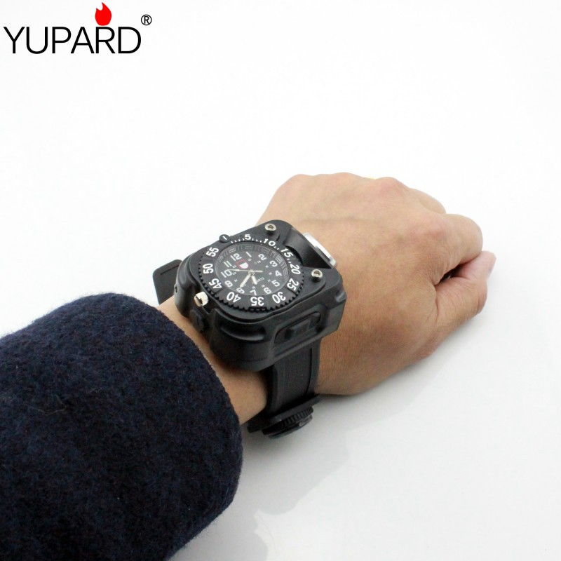 YUPARD 5 Modes FlashLight built-in Rechargeable Q5 LED Watch Wristlight Waterproof Wrist  Lighting Lamp Tactical Compass torch super bright led watch flashlight torch lights compass outdoor sports mens fashion waterproof rechargeable wrist watch lamp