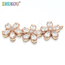 14*42mm Cubic Zircoia Butterfly Pendant for Diy Jewelry Findings Accessories Making, Hole: 1mm, Model: VD211(China)