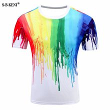 New Arrivals Three-dimensional Clothing Printed Fearless 3D Men t-shirts Kitty Cat Thundercat Playing With Lightning 3D t shirts(China)
