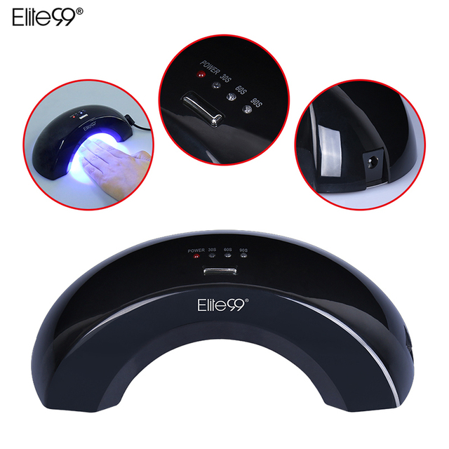 Elite99 Led Nail Lamp 6W Manicure Gel Varnish Lamp Nail Dryer UV Lamp Professional Light 30s/60s/90s For Nail Art Curing