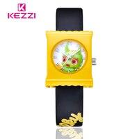 KEZZI Children Brand Watches Fashion Quartz Leather Strap Wristwatches Cartoon Watches For Girl And Boy Sport