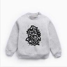 Детская одежда хлопковая футболка с длинными рукавами и высоким воротником на осень и зиму плотный бархатный свитер с принтом граффити