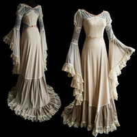 Women's Sexy Luxury 18th Century Medieval Style Dresses Floor Length Renaissance Princess Dress Retro Halloween Party Costume Co