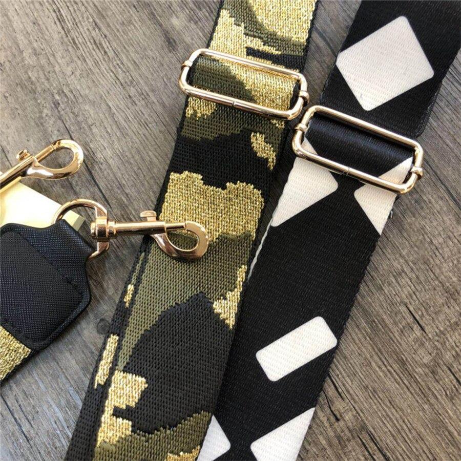 Gold Rainbow Bag Straps Handbag Belt Wide Shoulder Bag Strap Replacement Strap Accessory Bag Part Adjustable Belt For Bag 120cm