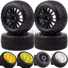 ENRON 4P pneus en caoutchouc moyeu de 2.2 pouces et 80MM, nouveau jeu de pneus de voiture RC 1/10 adaptés à 1:10 HPI WR8 Flux rallye 3.0 110697 94177