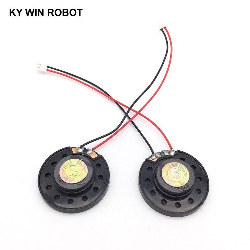 """מזגנים 2pcs / הרבה חדש דק צעצוע ברכב צופר 32 אוהם 0.5 וואט 0.5W 32R הדובר קוטר 40mm 4 ס""""מ עם 10 ס""""מ אורך החוט מסוף PH2.54 (3)"""