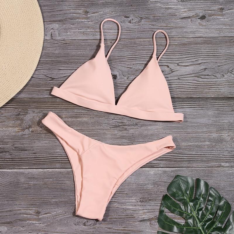 HTB1MDiea3FY.1VjSZFnq6AFHXXaq Minimalism Le 2019 Solid Bikini Sets Women's Swimsuit Female Swimwear Bikinis Sexy Bathing Suits Biquini Beach Wear