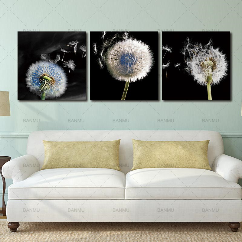 Aliexpress Com Buy Hdartisan Wall Canvas Art Pictures: Canvas Paintingpicture Wall Art Decoration Dandelion 3