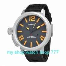 Free shipping 55mm Big dial PARNIS men s watch Automatic mechanical watches orange Number watches wholesale