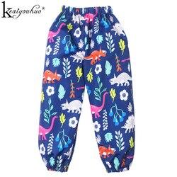 Осень 2021, Детские дождевые брюки, высококачественные дождевые брюки для детей, одежда для маленьких девочек с цветами, повседневные брюки д...