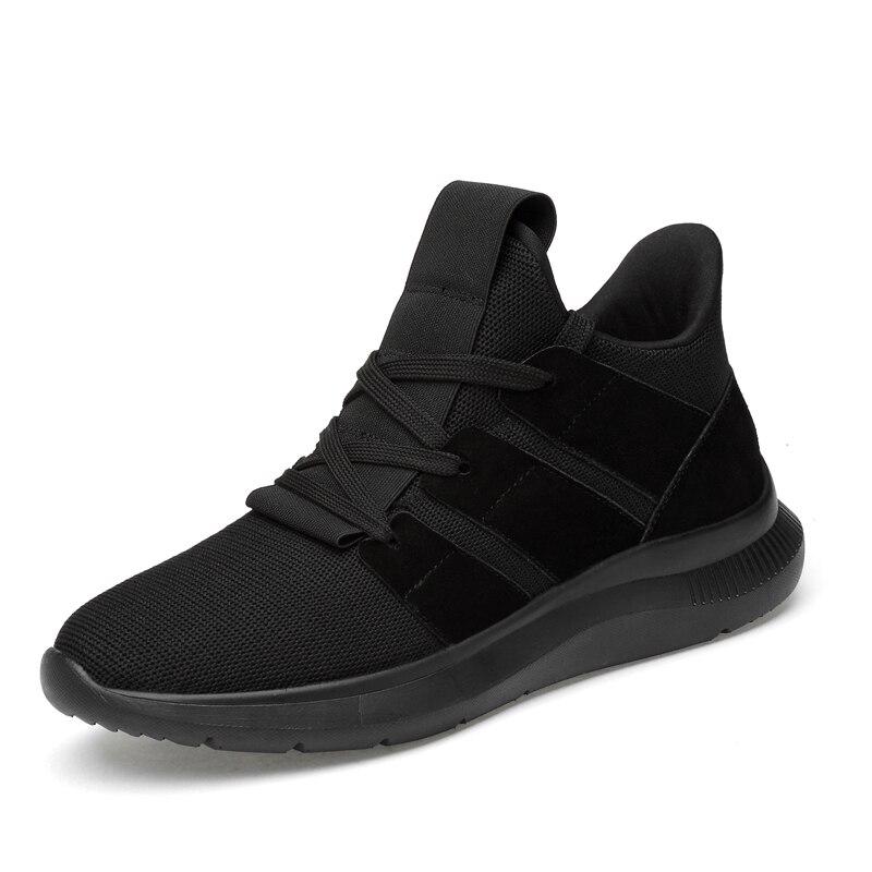 Léger Décontracté Qualité Mens Confortables Pour Simple Tissage Designer Vol Maille kaki Chaussures Nouvelle Augmenté Mode Homme Noir Doux Supérieure Rq54AcS3Lj