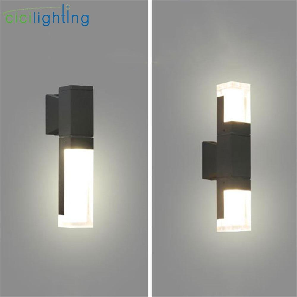 Modern decor LED Wall Light Outdoor Waterproof grey Porch ...