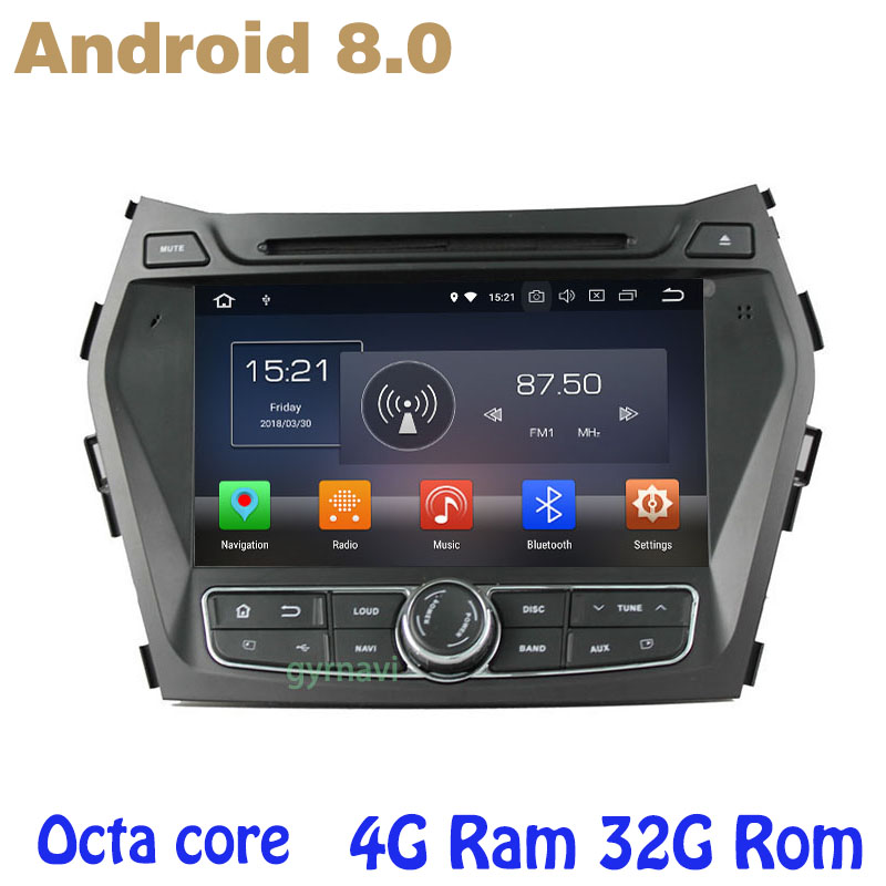 Octa core PX5 Android 8.0 car dvd gps for hyundai IX45 Santa fe 2013-2015 with 4G RAM 32G ROM radio wifi 4g usb auto Multimedia octa core px5 android 8 0 car dvd gps for hyundai ix45 santa fe 2013 2015 with 4g ram 32g rom radio wifi 4g usb auto multimedia