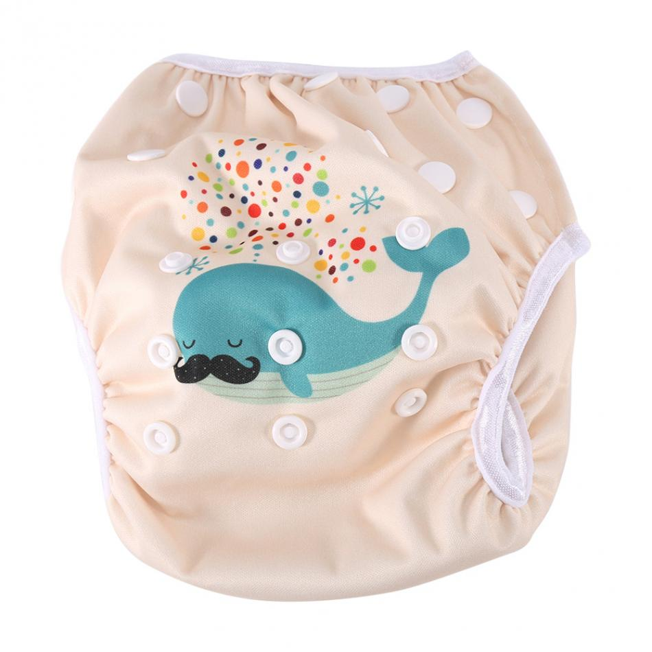 Baby Swimming Training Pants Reusable Adjustable Baby Cloth Diaper Pants Pool Cover Baby Boys Girls Swimwear Diapers Clothes