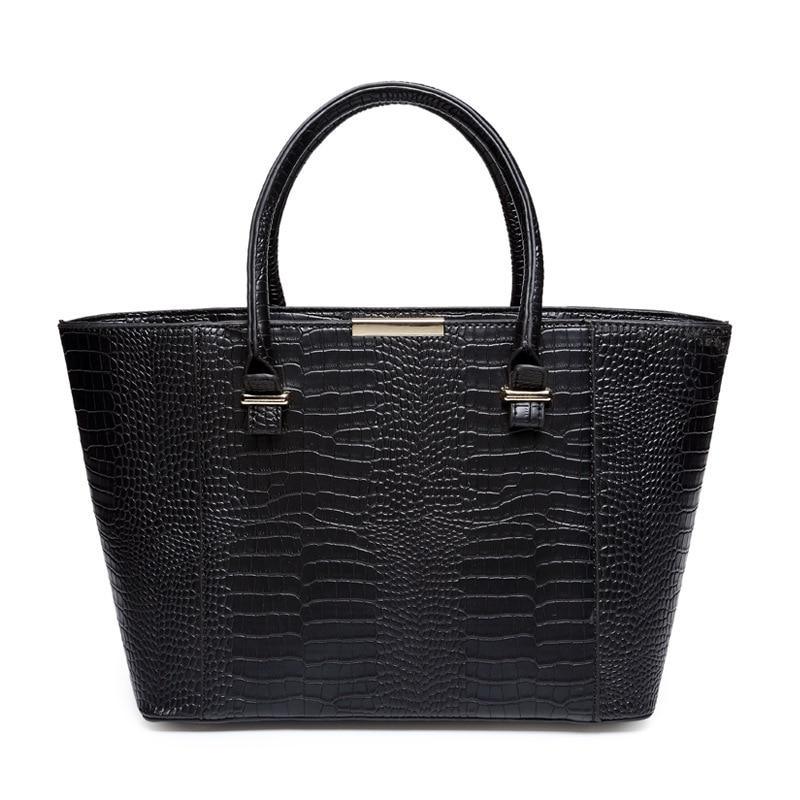 ФОТО 2016 new high quality crocodile handbags embossed big Ms. Messenger Bag shoulder bag fashion brand shell bag  zs228