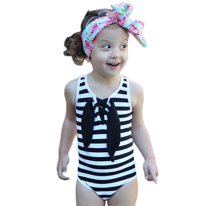 Black Friday Deals 1 6years Kids Girls Striped Bandage Bow