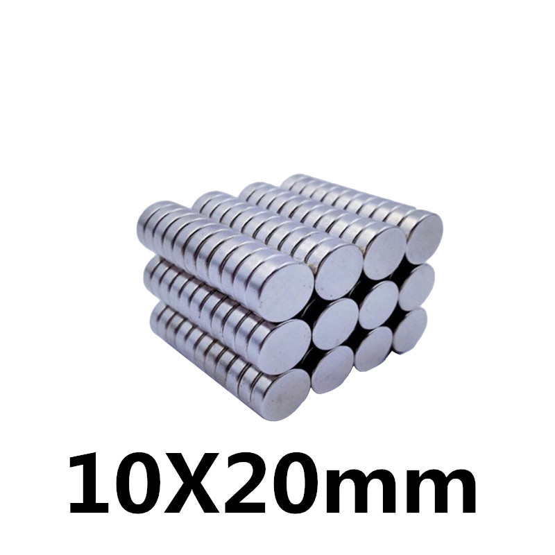 4Pcs 10x20 Neodymium Magnet Permanent N35 10mm x 20mm NdFeB Super Strong Powerful Magnetic Magnets Small Round Disc
