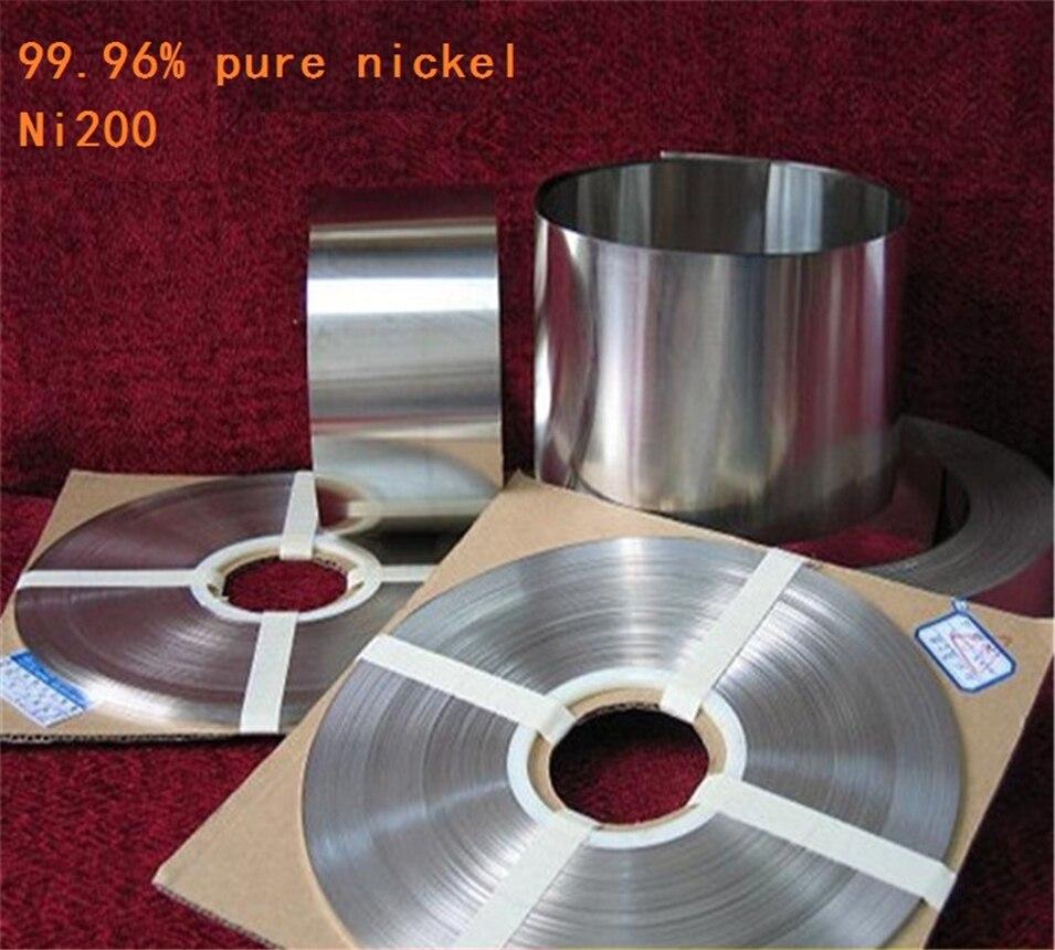 1 kg 0.15mm * 25mm Pur Nickel Plaque Sangle Bande Feuilles 99.96% pure nickel pour Batterie électrode électrode Spot Machine De Soudage