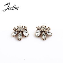 2015 Vintage Clear Crystal Stud Earring Fashion Women Good Quality (Min $20 can mix)