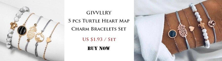 Turtle Heart Map Charm Bracelets