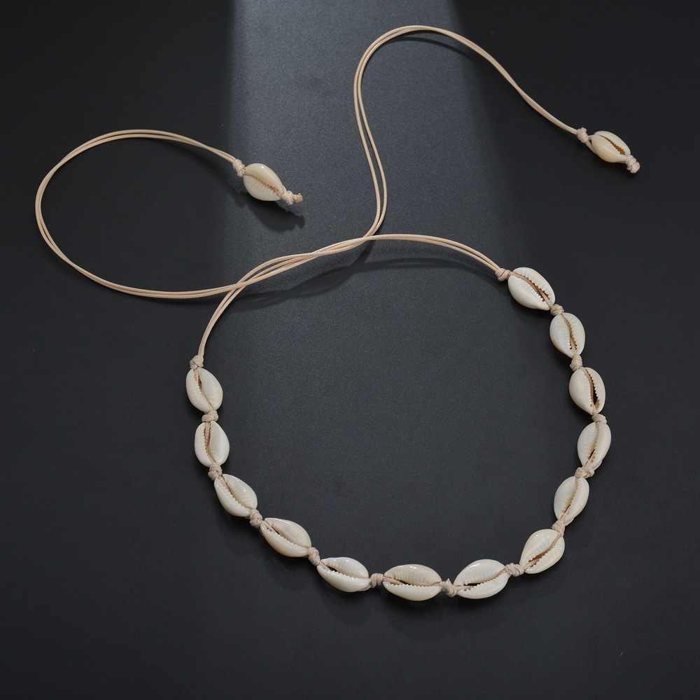 X136 ナチュラル夏ビーチシェルチョーカーネックレスシンプルなボヘミアン貝殻ネックレス女性女の子誕生日ギフトの新
