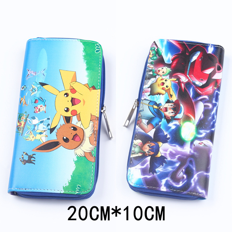New Arrival Cartoon Zipper Long Student Wallet Attack on Titan Mikasa Ackerman/Pokemon Pikachu High capacity Purse Clutch wallet 23356 набор для фондю 1л нерж сталь мв 906084