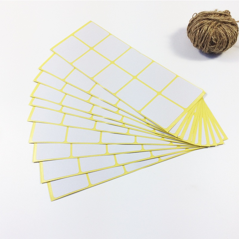 100PC New White colour Square design kraft Blank Sealing sticker DIY gift package label paper stickers matte white a4 kraft paper self adhesive square print label stickers library book shipping labels for laser inkjet printer