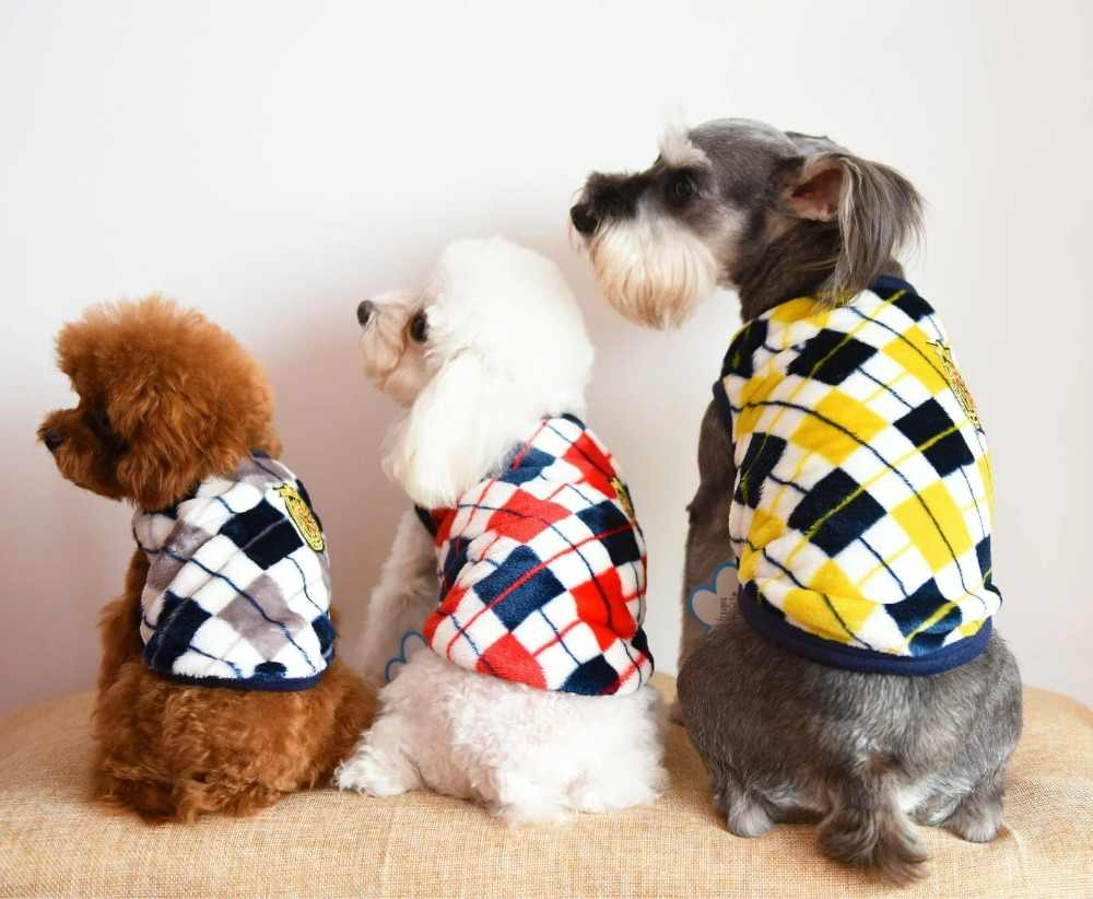 Красный/желтый/серый Осень Зима Фланель кошка жилет собака кошка рубашка одежда для собак кошка пальто Одежда для маленькая кошка собака щенок