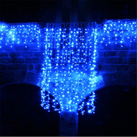 5M Wave Stripe Window Decoration Curtain Led Wedding Fairy Lights Christmas Outdoor Waterproof Garden Grass Home H 24
