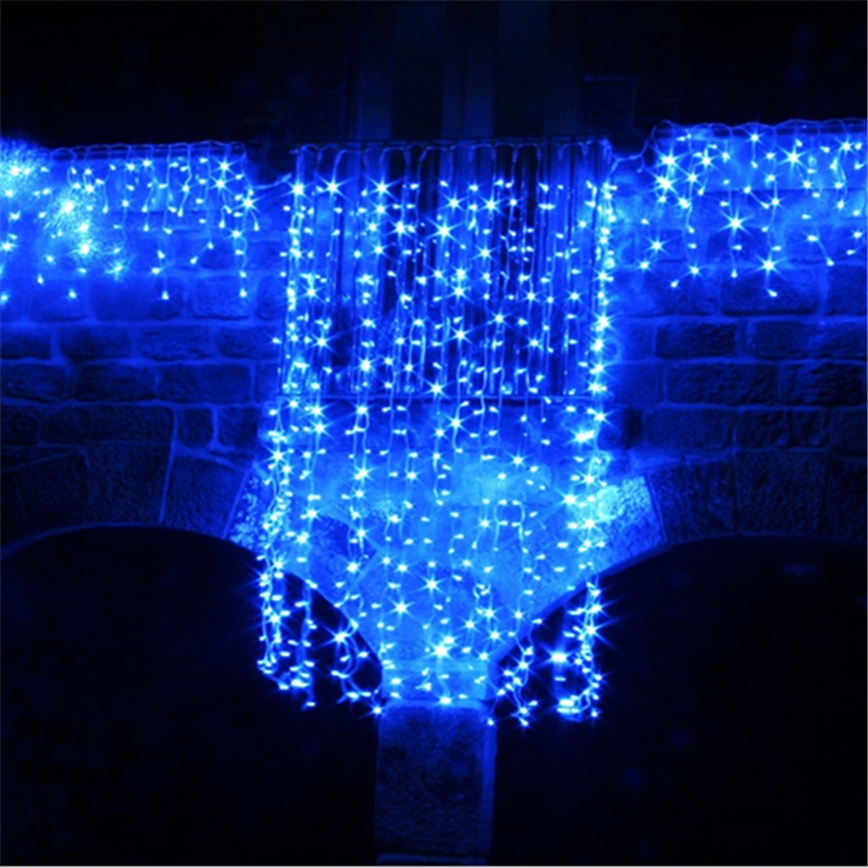 5m wave stripe window decoration curtain led wedding fairy for 6 star window christmas decoration lights