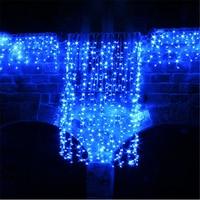 5M Wave Stripe Window Decoration Curtain Led Wedding Fairy Lights Christmas Outdoor Waterproof Garden Grass Home H 24