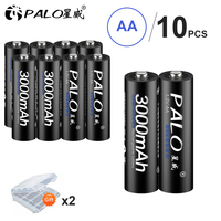 100% оригинал Palo батарея 3000 mah 1,2 V Ni-MH заряжаемые аккумуляторы предварительно заряженные 2A Baterias для камеры