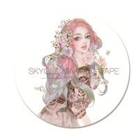 10 Pcs DIY Japanese Paper Washi Tapes Cartoon Girls Decorative Adhesive Tapes Masking Tape Stickers Size